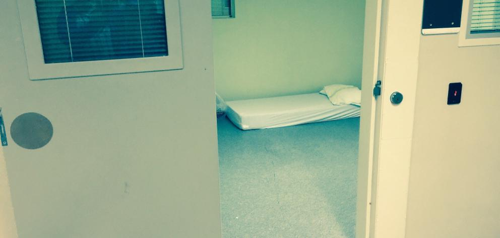 Example of a seclusion room at a government run mental health facility which a UN report found are being overused. Photo: NZ Herald