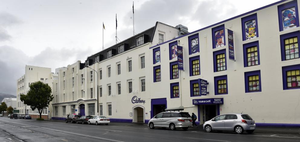 The Cadbury factory and Cadbury World building in Cumberland St, Dunedin. Photo: ODT files.