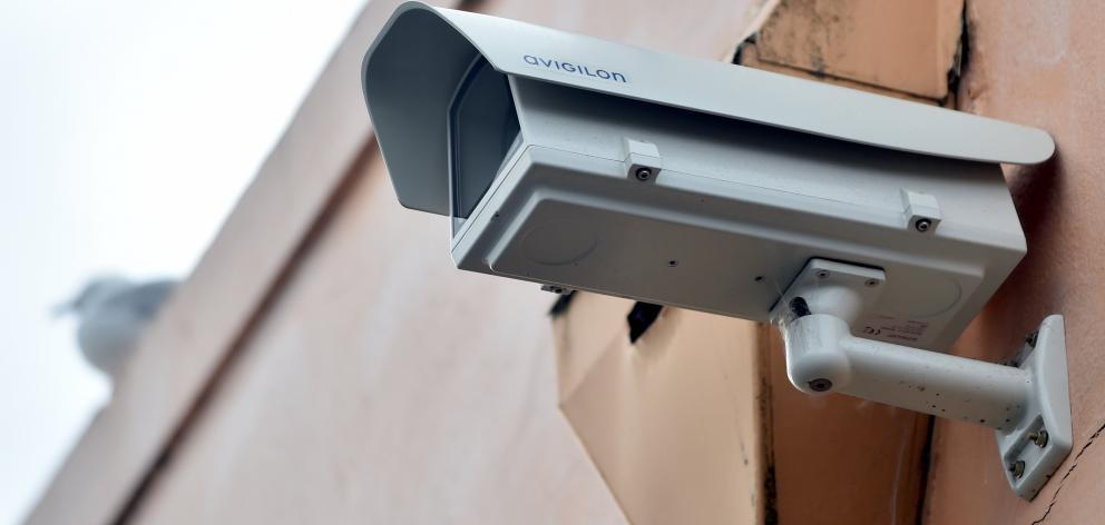 A CCTV camera in Hyde St, in north Dunedin. Photo ODT Files
