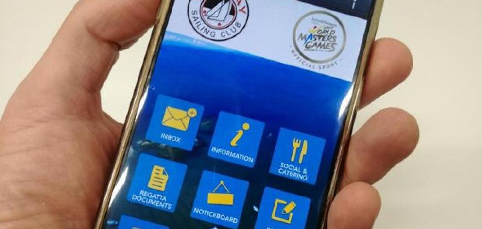 An app which allows sailors, coaches and spectators alike to easily see results and jury decisions, or get live weather reports and notice of races. Photo: NZ Herald / supplied