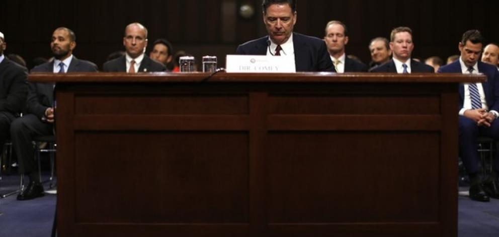 Former FBI Director Comey testifies before a Senate Intelligence Committee hearing in Washington. Photo: Reuters