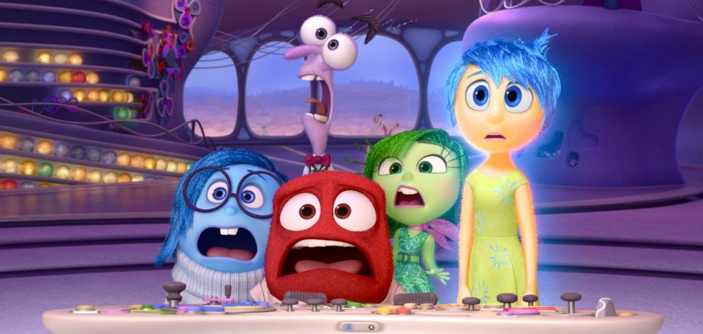 Pictured (left to right) Sadness, Fear, Anger, Disgust and Joy in the Disney-Pixar film Inside Out. It turned out that they all had a legitimate role to play. Photo: supplied