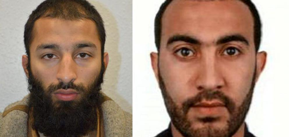 Khuram Shazad Butt (L) and Rachid Redouane were two of the three men shot dead by police following their attack on London Bridge and Borough Market. Photo: Reuters