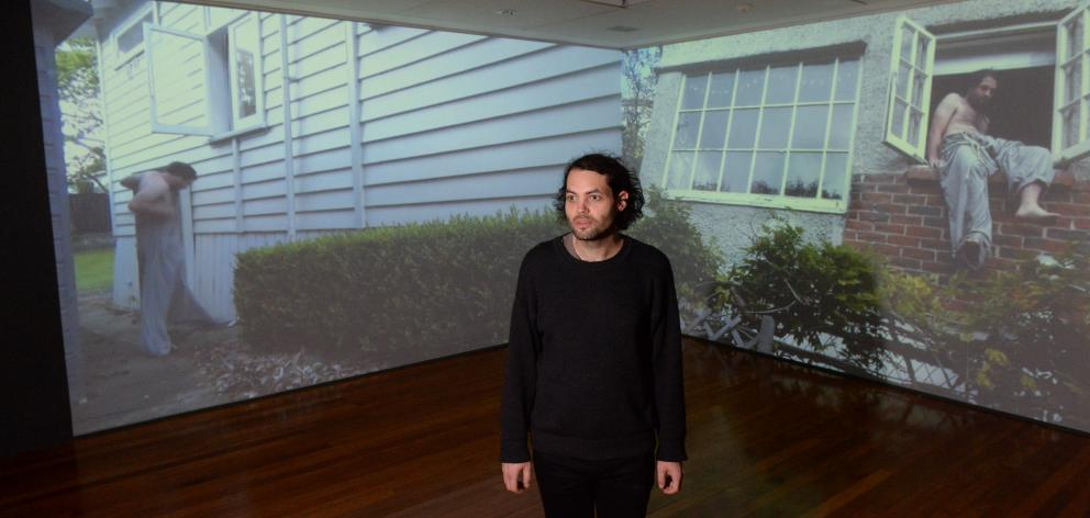 Campbell Patterson's video and sculpture exhibition ''call sick'' explores the experience of...