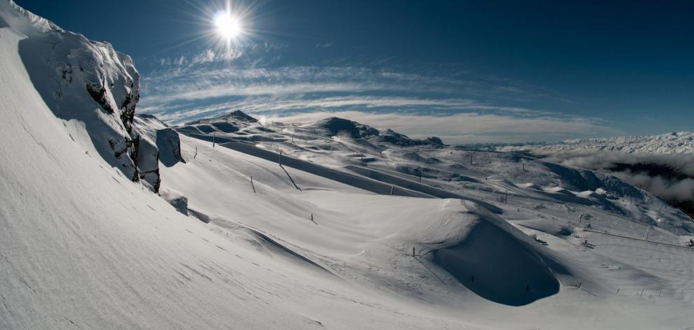 Cardrona Alpine Resort in late May following a 35cm-40cm snowfall. PHOTO: STEF ZEESTRATEN