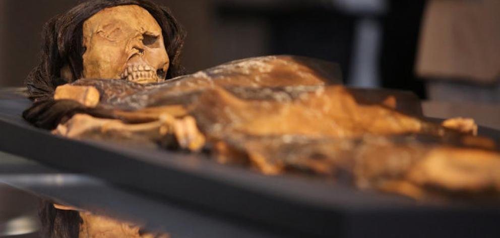 Using 3D imaging technology and forensic archaeology, the replica was based on the Lady of Cao's skull structure and ethnographic research. Photo: Reuters