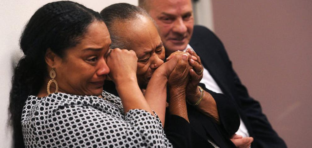 Simpson's daughter, Arnelle (front), told the hearing that Simpson's incarceration had been hard on her family. Photo: Reuters