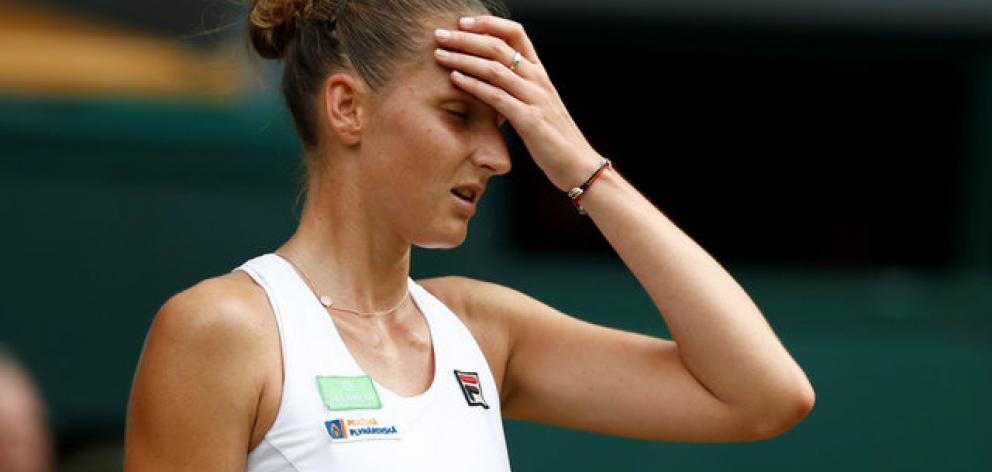 Czech Karolina Pliskova is out of title contention after she lost her second round match against Slovakia's Magdalena Rybarikova. Photo: Reuters