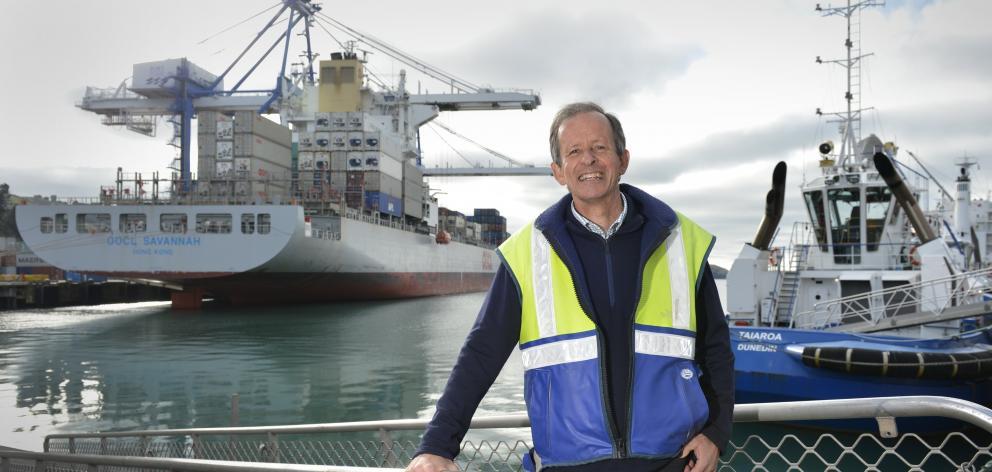 Port Otago's former chief executive Geoff Plunket. Photo: Gerard O'Brien.