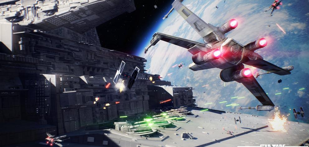 As far as initial impressions go, this early 'Star Wars Battlefront II' cinematic certainly makes a strong one. Photo: Supplied