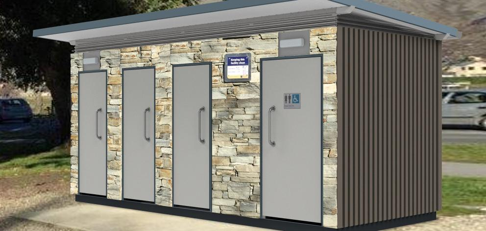 An illustration of the proposed new Rob Roy Bay toilet block planned to be operational by the...