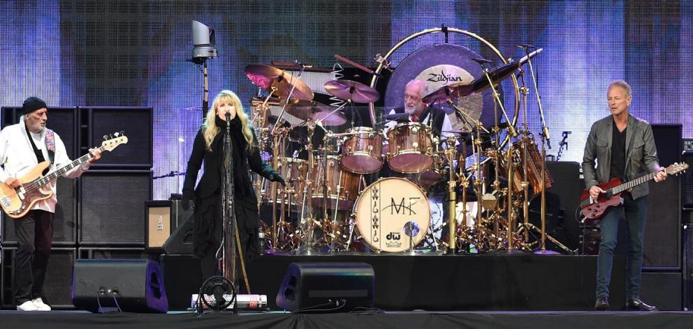 Fleetwood Mac members (from left) John McVie, Stevie Nicks, Mick Fleetwood and Lindsey Buckingham...