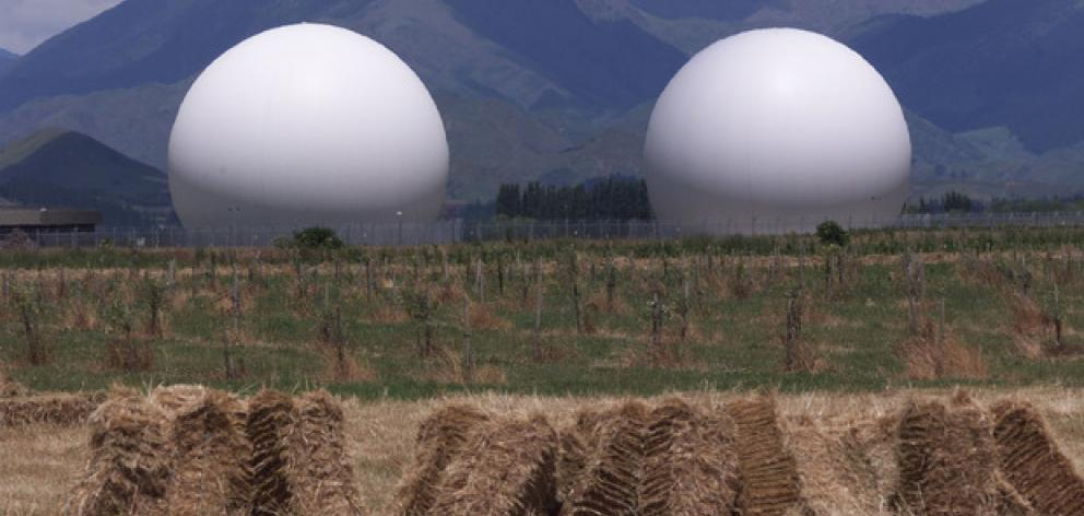 The Waihopai spy base near Blenheim. Photo: NZ Herald