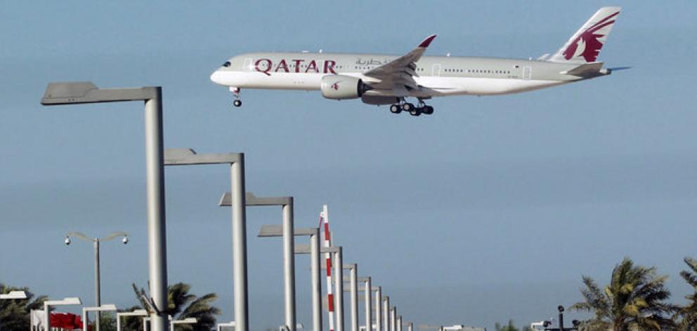 Qatar Airways plane is seen in Doha. Photo: Reuters