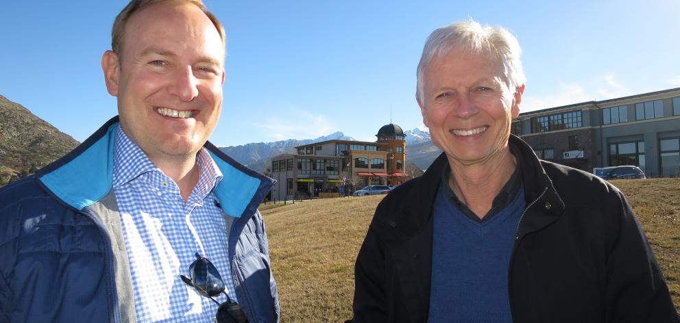 New Ground Capital managing director Roy Thompson (left) and Remarkables Park Ltd director...