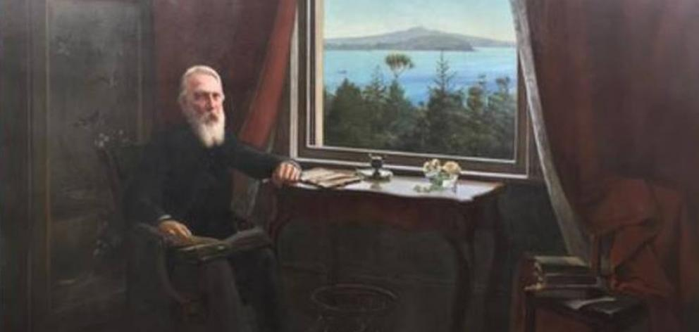 'Sir John Logan Campbell at Kilbryde, Parnell', painted around 1903 by Louis John Steele, who taught Charles Frederick Goldie. Photo: NZ Herald /Supplied