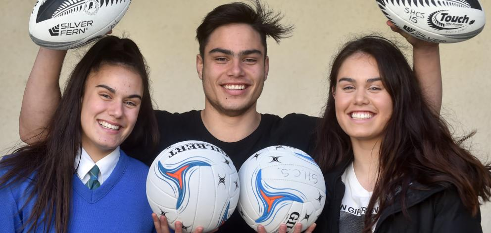 Annie (left), Josh, Meg and Jack Timu (inset) are following in their father John Timu's footsteps...