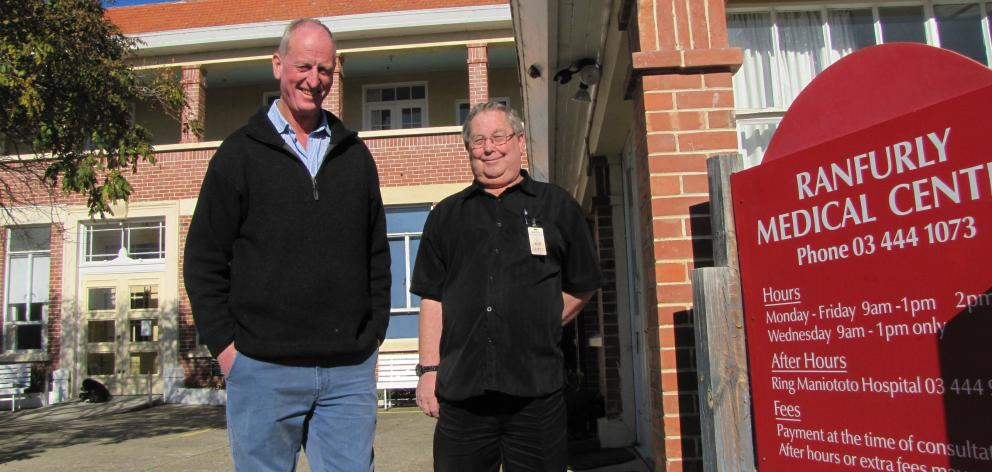 Maniototo Health Services Ltd chairman Stuart Patterson (left) and manager Geoff Foster outside...