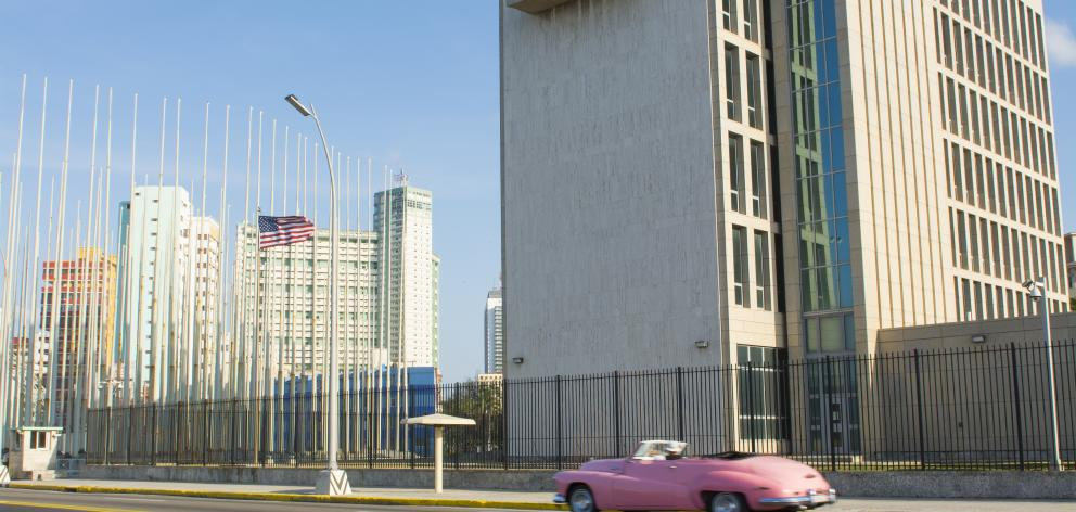 The U.S Embassy in Havana, Cuba which reopened for the first time since 1961 last year. Photo:Getty Images