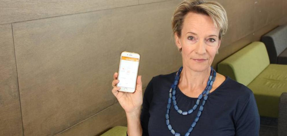 Dr Kirsten van Kessel, a clinical psychologist based at Auckland University of Technology, has helped create a new app for people who suffer fatigue symptoms of multiple sclerosis. Photo: NZ Herald / Supplied