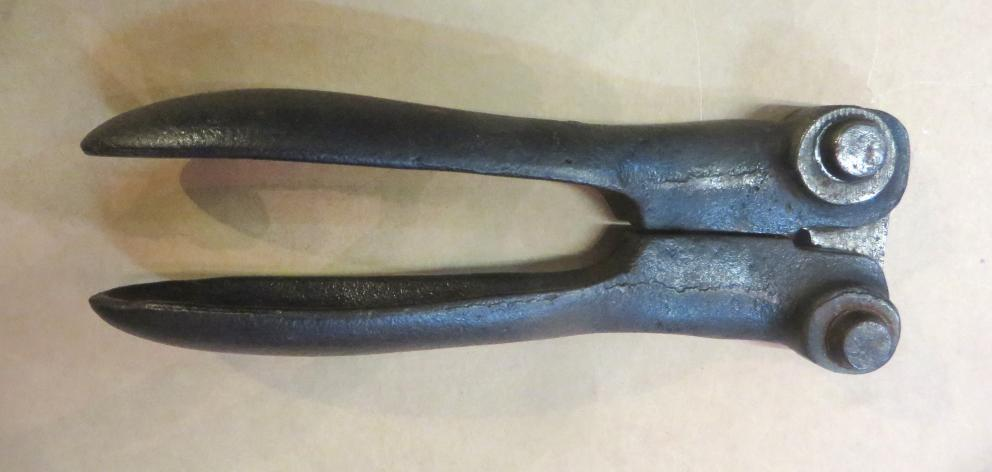This barbing tool was manufactured by William Woodcock and Edward West, of Oamaru. Photo: Shannon Gillies