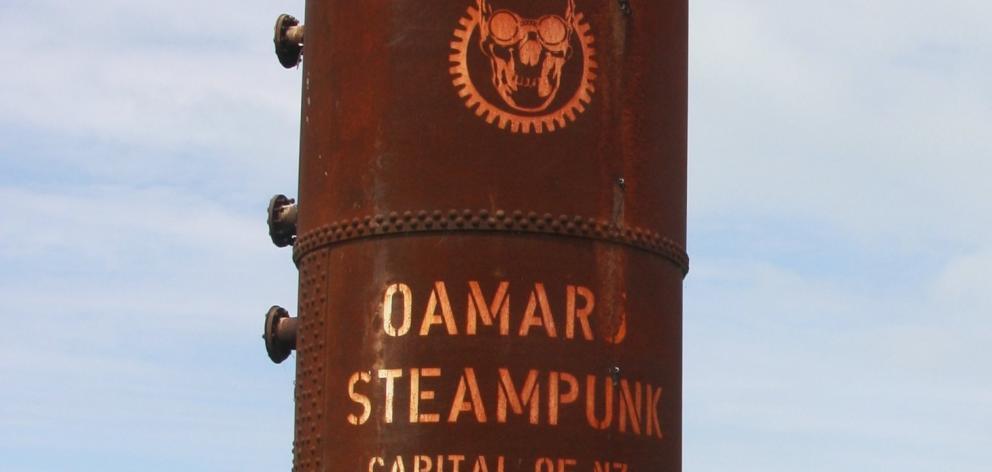 A steampunk installation in Oamaru. Photo: ODT.