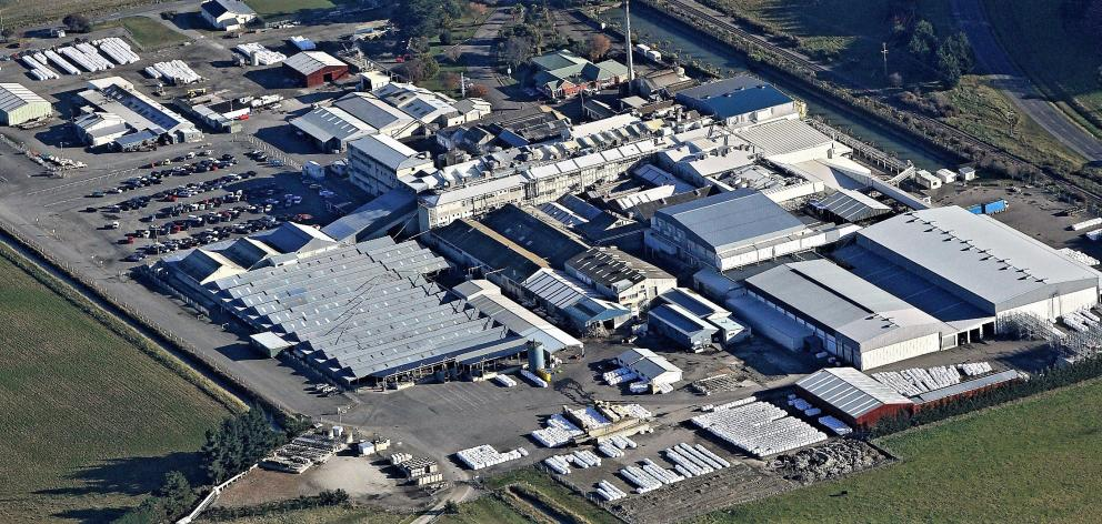 An aerial view of Alliance Group's Pukeuri plant. Photo: Alliance Group.