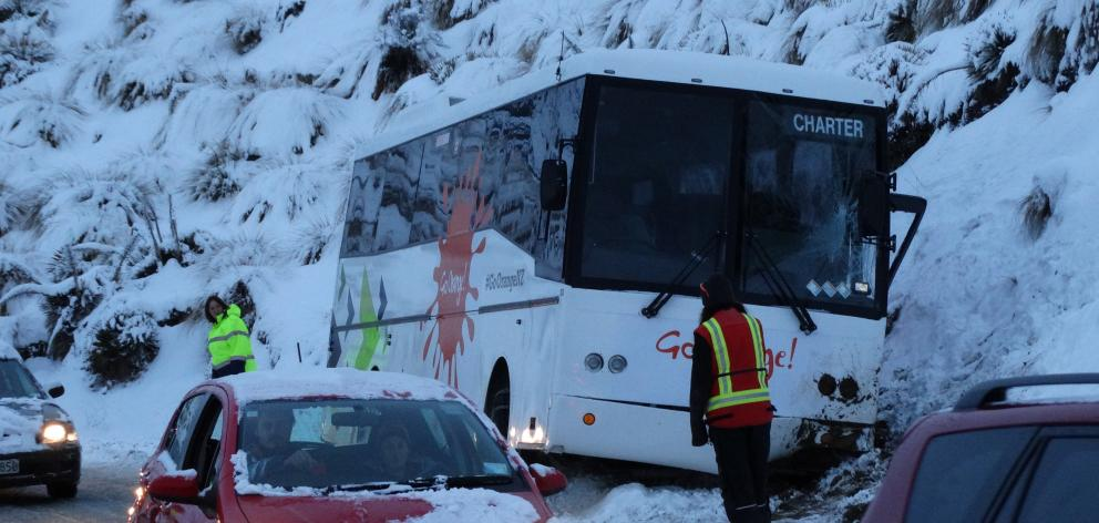 Queenstown tourism company Go Orange said weather conditions prevented the recovery of the bus...
