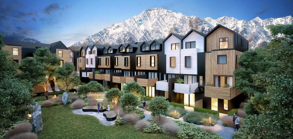 An artist's impression of the Remarkables Residences development, the first of which will be completed by the summer of 2018-19. Image: Supplied