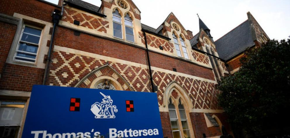 Thomas's Battersea, a private school attended by Prince George, is seen in southwest London. Photo: Reuters