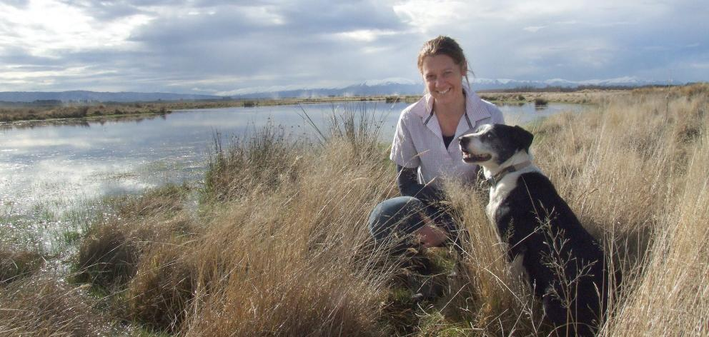 Maniototo farmer Emma Crutchley and her dog Trixie. PHOTOS: SALLY RAE