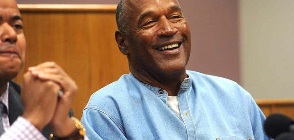O.J. Simpson reacts during his parole hearing at Lovelock Correctional Center in Lovelock, Nevada. Photo: Reuters