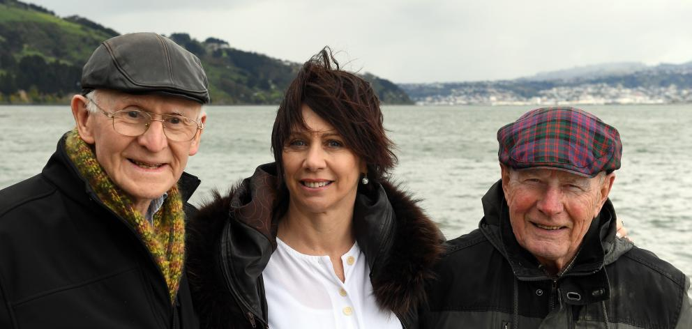 Otago Peninsula Trust founders Laurie Stewart (left) and Bill Dawson (right) and general manager...