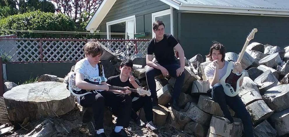 Dunedin high school punk band Sugarcoated Bullets.Photo: Supplied