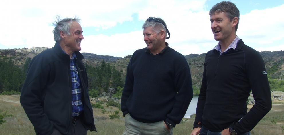 Proud to be encouraging wilding removal in the Central Otago region are (from left) Central Otago...