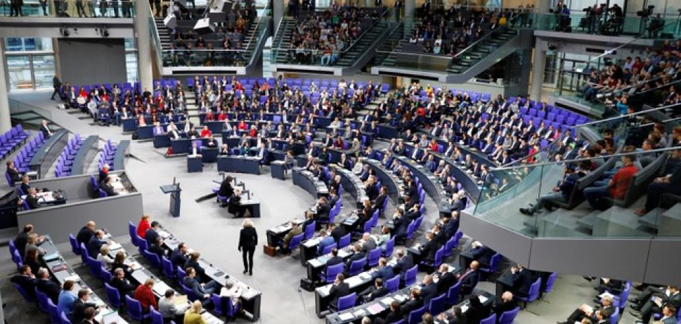 Members of the Bundestag, German lower house of Parliament, are seen during a session of the Bundestag in Berlin. Photo: Reuters