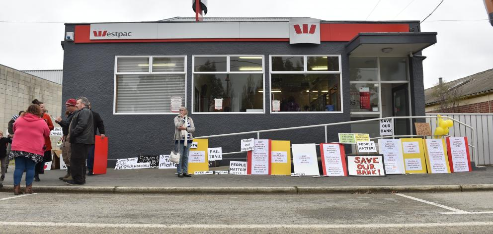 Ranfurly's last bank closed its doors in November last year.