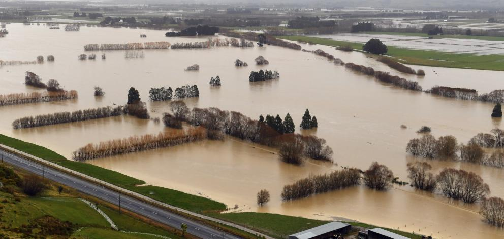 The Otago flooding around Henley and elsewhere on the Taieri (pictured) has restricted grass growth. Photo: Otago Daily Times