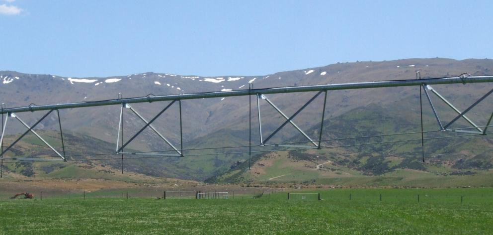 Pivot irrigation has made a change to the landscape at Matakanui Station.