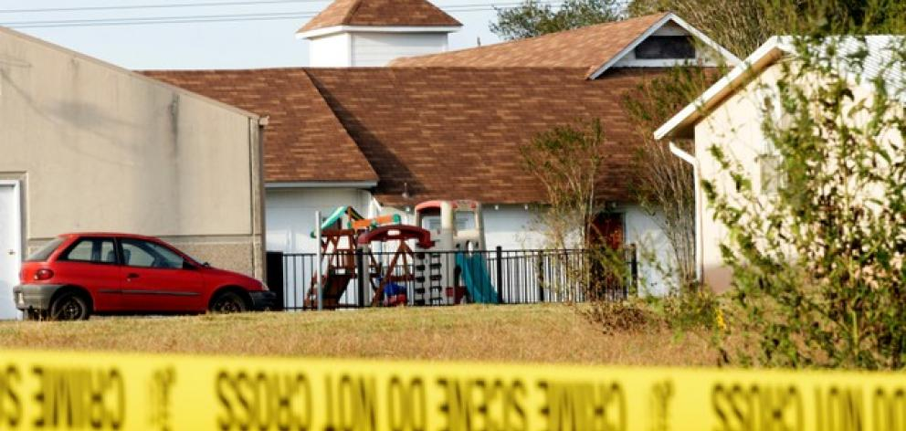 Suspected gunman Devin Patrick Kelley injured another 20 people when he opened fire in the white-steepled First Baptist Church in Sutherland Springs. Photo: Reuters