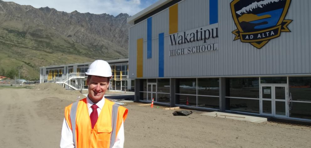 Principal Steve Hall outside the new Wakatipu High School in Frankton. Photos: Mandy Cooper