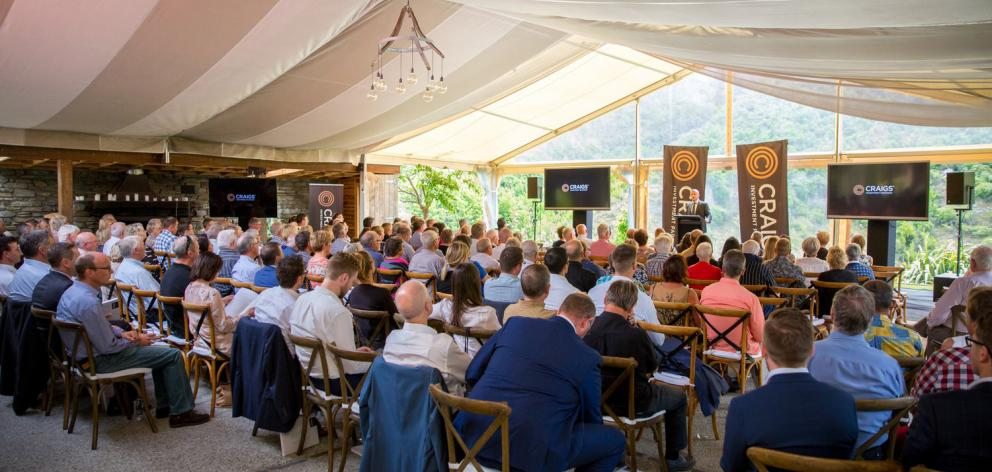 About 240 people attended the Craigs Investment Partners investor day in Queenstown.  Photo: Supplied