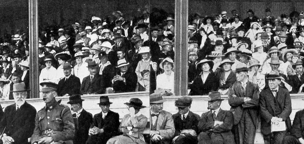 A section of the crowd at the Otago A. and P. Society's 41st summer show in Dunedin. - Otago Witness, 5.12.1917.