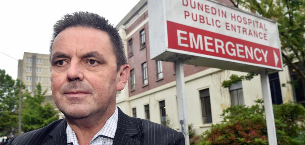 Southern District Health Board chief executive Chris Fleming outside Dunedin Hospital yesterday....
