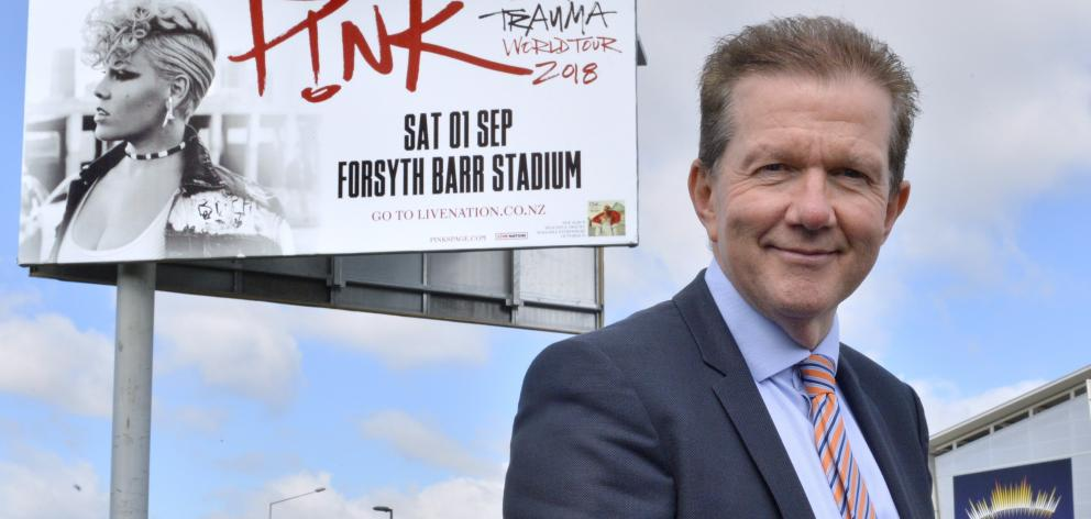 Dunedin Venues Management Ltd chief executive Terry Davies is looking forward to another big year...