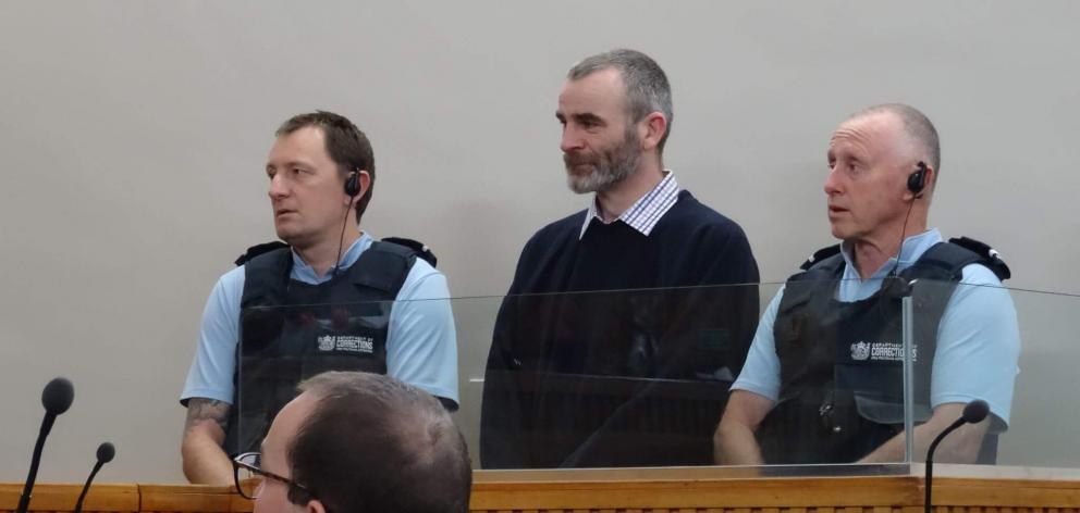 Ben McLean appears at the High Court in Invercargill. Photo: NZME