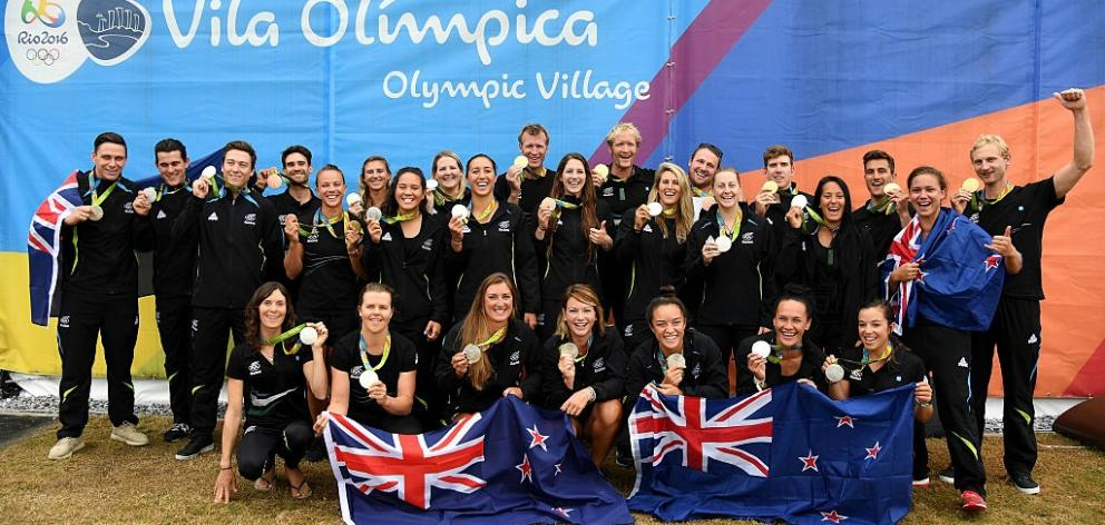 The New Zealand medal winners from the Rio 2016 Olympics. Photo: Getty Images