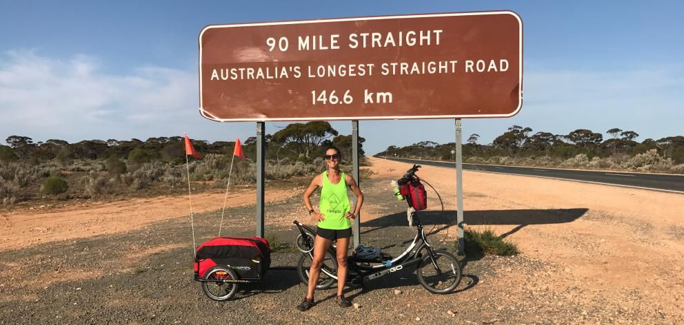 Emma Timmis during her latest Australian adventure. Photos: Supplied