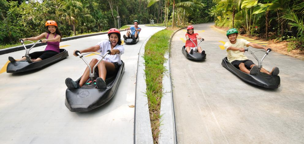 Skyline Enterprise's luge at Sentosa in Singapore   provides 1.2million luge rides every year....