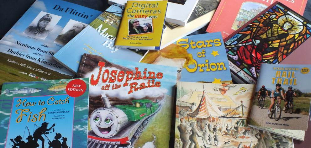 A selection of Brian and Diane's books. As self-publishers, they publish only their own work.